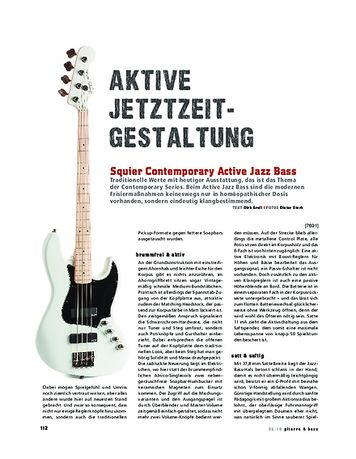Gitarre & Bass Squier Contemporary Active Jazz Bass