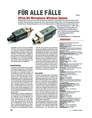 Gitarre & Bass XVive U3 Microphone Wireless System