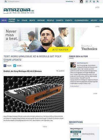 Amazona.de Korg Minilogue XD & Module mit Poly Chain Update