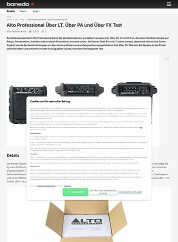 Bonedo.de Alto Professional Über LT und Über PA