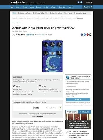 MusicRadar.com Walrus Audio Slo Multi Texture Reverb