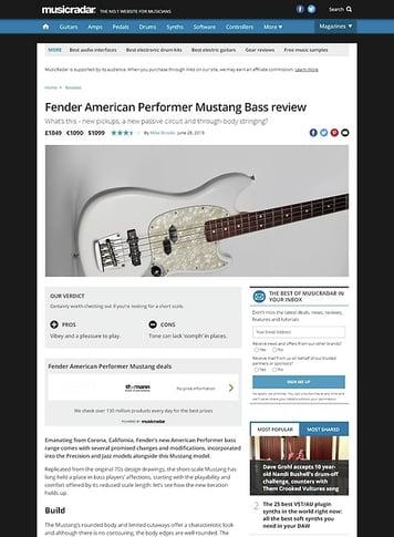 MusicRadar.com Fender American Performer Mustang
