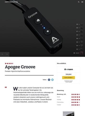 Kopfhoerer.de Apogee Groove