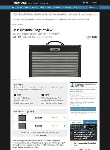 MusicRadar.com Boss Nextone Stage