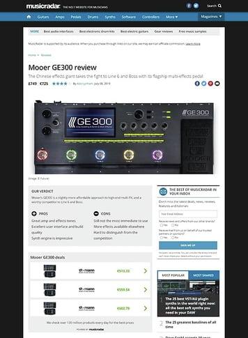 MusicRadar.com Mooer GE300