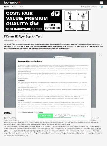 Bonedo.de DDrum SE Flyer Bop Kit