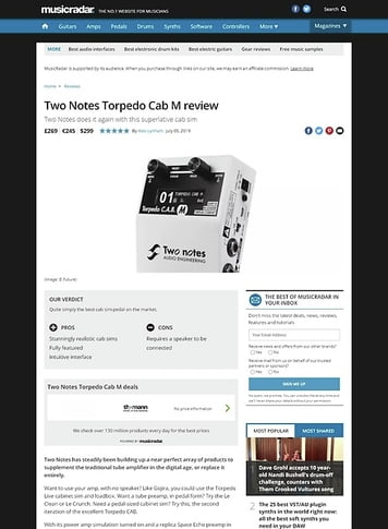 MusicRadar.com Two Notes Torpedo Cab M