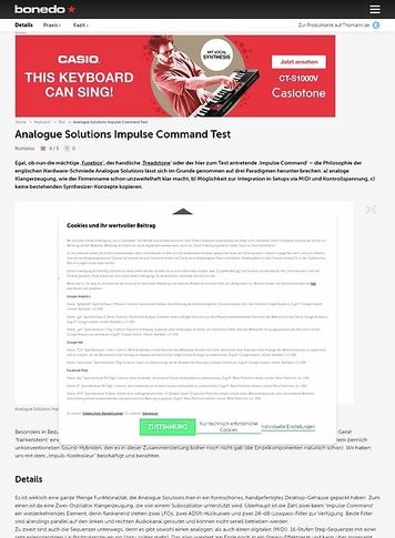 Bonedo.de Analogue Solutions Impulse Command