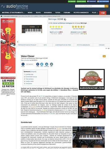 Audiofanzine.com Behringer VC340