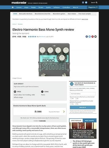 MusicRadar.com Electro Harmonix Bass Mono Synth