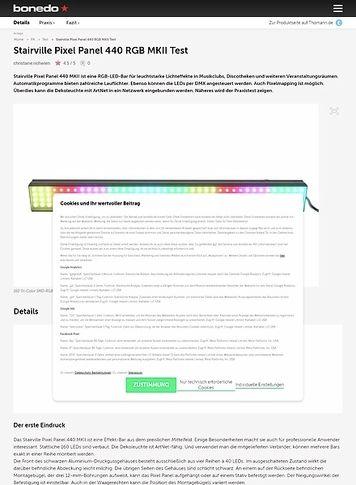 Bonedo.de Stairville Pixel Panel 440 RGB MKII
