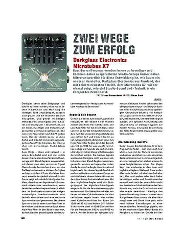 Gitarre & Bass Darkglass Electronics Microtubes X7