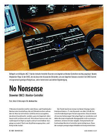 Sound & Recording Drawmer CMC3