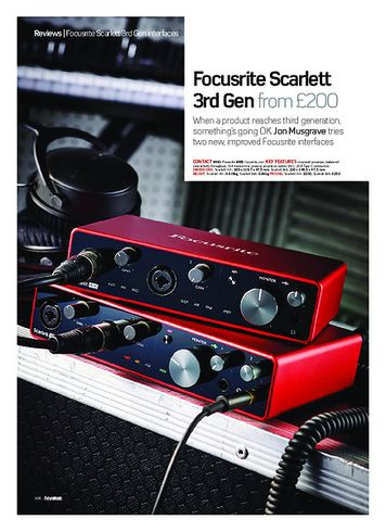 Future Music Focusrite Scarlett 3rd Gen