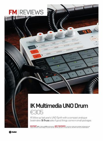 Future Music IK Multimedia UNO Drum