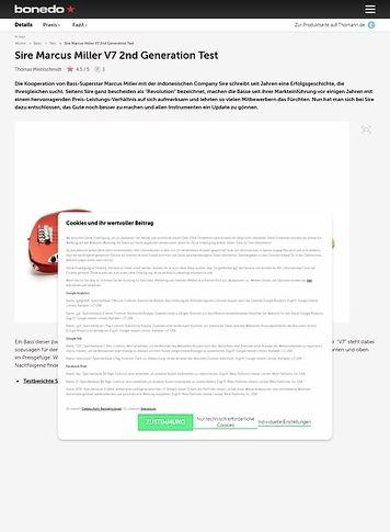 Bonedo.de Sire Marcus Miller V7 2nd Generation