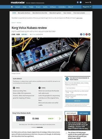 MusicRadar.com Korg Volca Nubass