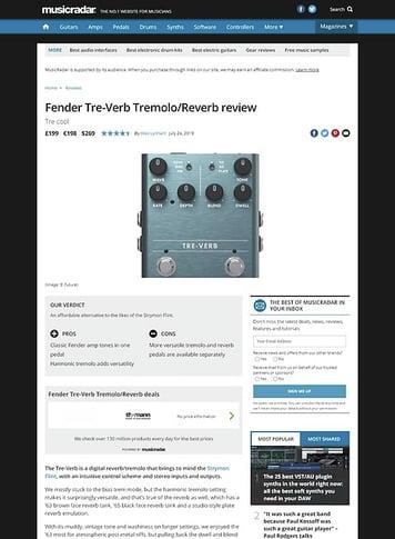 MusicRadar.com Fender Tre-Verb