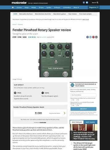 MusicRadar.com Fender Pinwheel Rotary Speaker