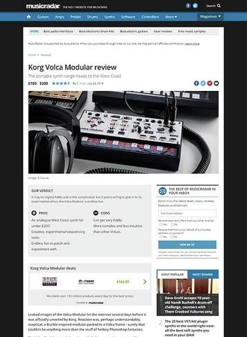 MusicRadar.com Korg Volca Modular