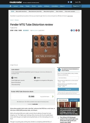 MusicRadar.com Fender MTG Tube Distortion