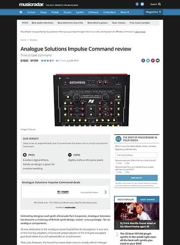 MusicRadar.com Analogue Solutions Impulse Command