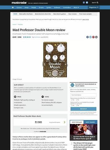 MusicRadar.com Mad Professor Double Moon