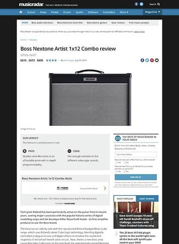 MusicRadar.com Boss Nextone Artist