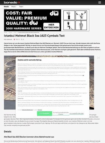 Bonedo.de Istanbul Mehmet Black Sea 1623 Cymbals
