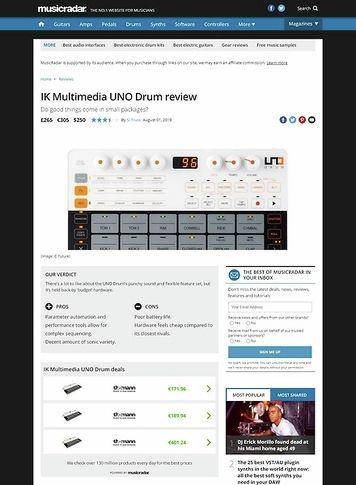 MusicRadar.com IK Multimedia UNO Drum
