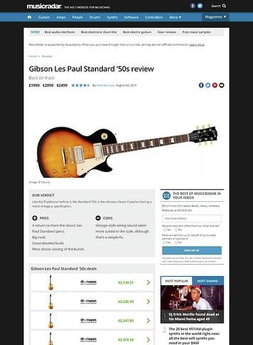MusicRadar.com Gibson Les Paul Standard '50s