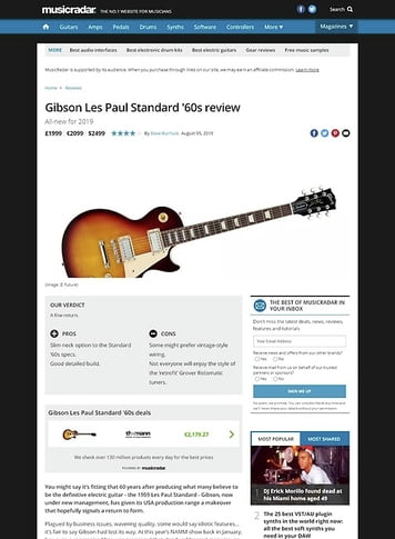 MusicRadar.com Gibson Les Paul Standard '60s
