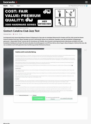 Bonedo.de Gretsch Catalina Club Jazz