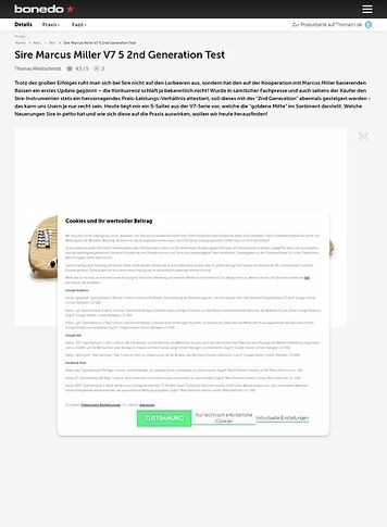 Bonedo.de Sire Marcus Miller V7 5 2nd Generation