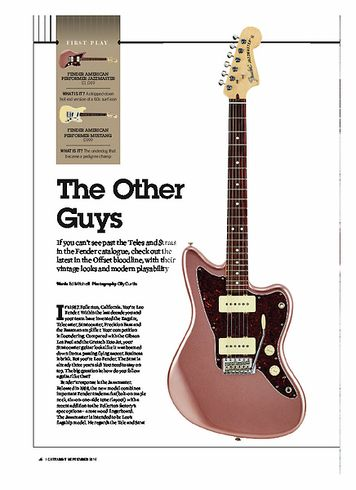 Guitarist Fender American Performer Mustang