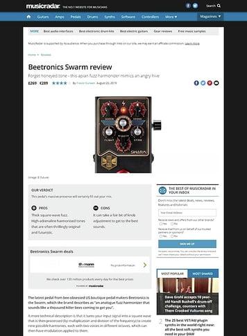 MusicRadar.com Beetronics Swarm