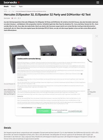 Bonedo.de Hercules DJSpeaker 32, DJSpeaker 32 Party und DJMonitor 42