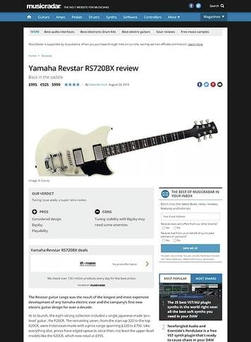 MusicRadar.com Yamaha Revstar RS720BX