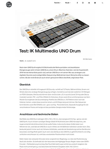 DJLAB IK Multimedia UNO Drum