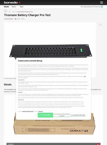 Bonedo.de Thomann Battery Charger Pro