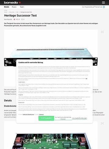 Bonedo.de Heritage Audio Successor