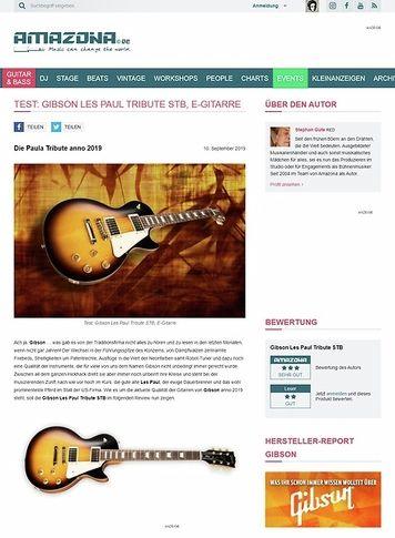 Amazona.de Gibson Les Paul Tribute STB