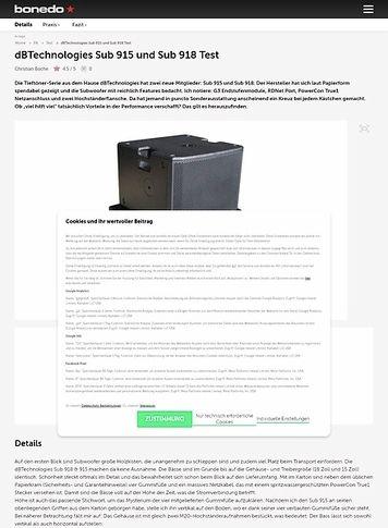 Bonedo.de dB Technologies Sub 915 und Sub 918