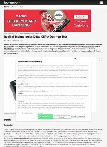 Bonedo.de Radikal Technologies Delta CEP A Desktop