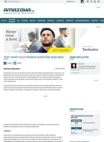 Amazona.de Test: Avant Electronics Avantone Mixcubes