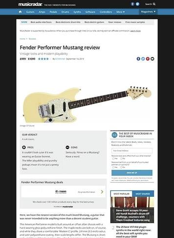MusicRadar.com Fender Performer Mustang