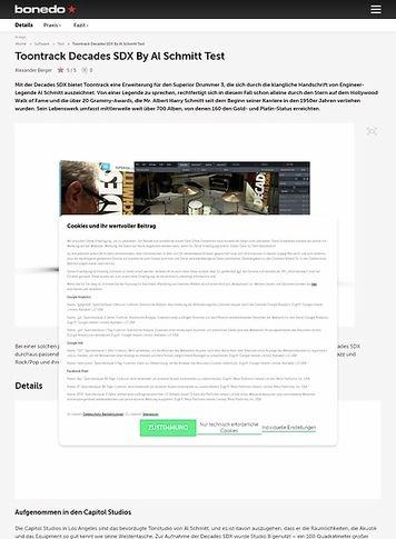 Bonedo.de Toontrack Decades SDX By Al Schmitt