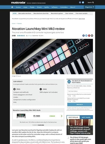 MusicRadar.com Novation Launchkey Mini Mk3