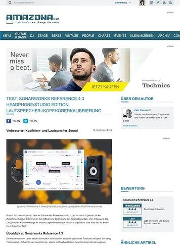 Amazona.de Sonarworks Reference 4.3 Headphone/Studio Edition