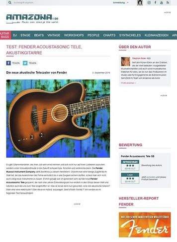 Amazona.de Fender Acoustasonic Tele